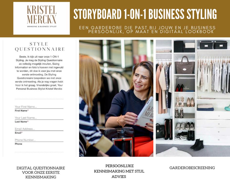 Storyboard: Wat kun je verwachten van een 1-ON-1 Business Styling?