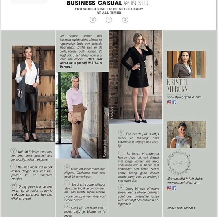 BUSINESS STYLING VOOR JET MAGAZINE MET GRIET VANHEES