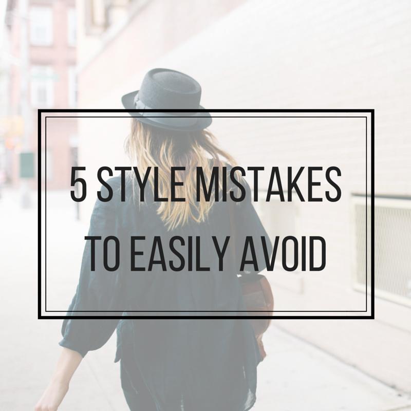 5 stijl fouten gemakkelijk te vermijden